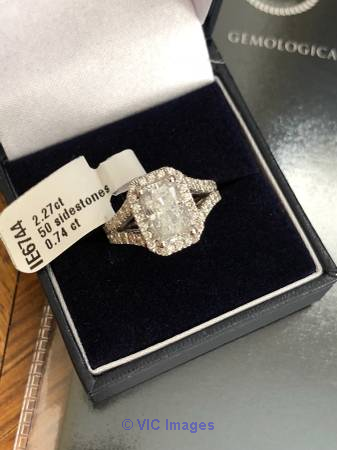 3 Carat D/VS2 Diamond Engagement Ring 14k White Gold Size 6.75 Moscow, Russia Classifieds