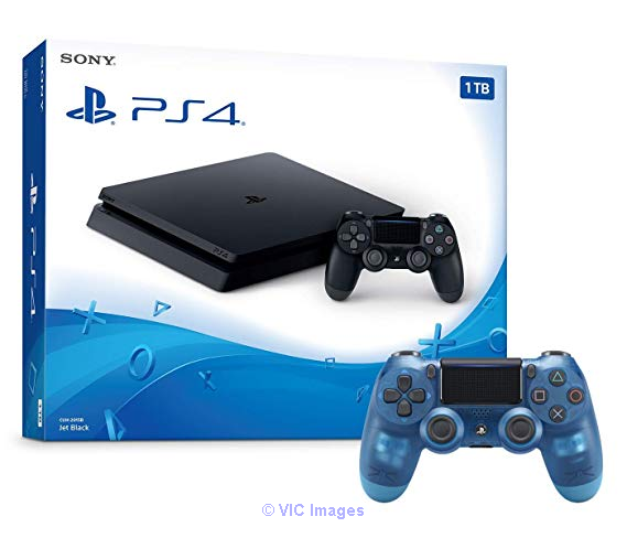 Playstation 4 1TB Slim Console and Extra Crystal Blue Dualshock 4 Wire Moscow, Russia Classifieds